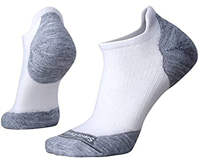Smartwool PhD Outdoor Light Micro Socks - Women's Elite Wool Performance Sock WHITE-LIGHT GRAY M Womens