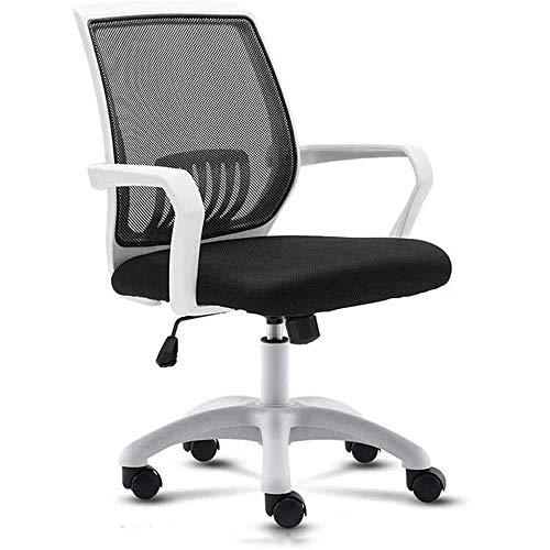 HJJK Ocio sillas de oficina Silla giratoria Soporte lumbar turística silla de ordenador ergonómico de malla Apoyabrazos durable fuerte
