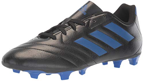 adidas Men's Goletto VII Firm Ground Soccer Shoe, Black/Team Royal Blue/Team Royal Blue, 7.5