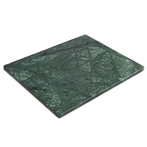 Diflart Natural Green Marble Pastry Cheese and Cutting Serving Baking Board Large 16x20 Inch for Gift