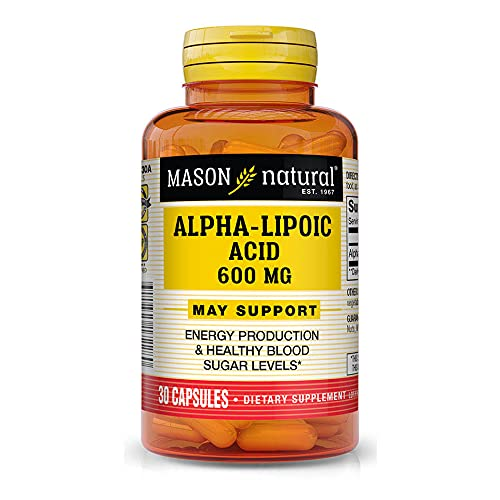 naturals alpha lipoic acids Mason Natural Alpha Lipoic Acid 600MG Capsules