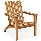 COSTWAY Adirondack Gartenstuhl Gartensessel Gartenmöbel Holzliege Sessel Terrassensessel Holzstuhl für Garten, Terrasse, Outdoor 68x73x85cm