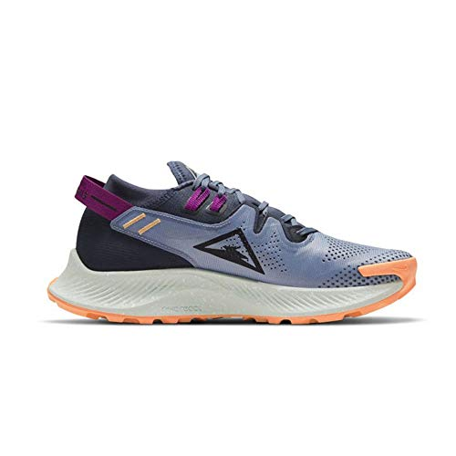 Nike W Pegasus Trail 2, Zapatillas para Correr Mujer, Thunder Blue Photon Dust Ashen Slate Dk Obsidian Peach Cream Red Plum, 38.5 EU