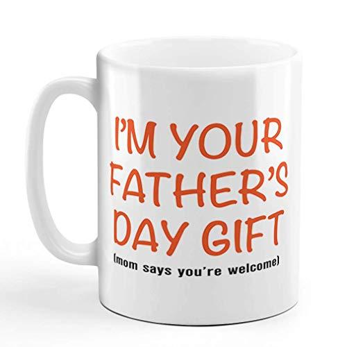 Taza de café de 325 ml con texto en inglés 'I'm Your Father Day!'