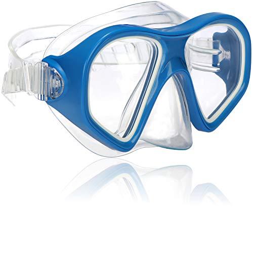 com-four® Taucherbrille für Kinder und Erwachsene - Schnorchelbrille in blau - wasserdichte Schwimmbrille - Tauchmaske (01 Stück - blau)