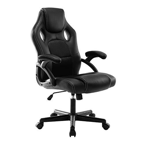 DEER HUNTER Gaming Style Computer Office Desk Chair (Black)