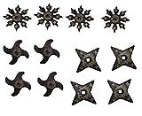Proforce Rubber Ninja Shuriken Throwing Stars Set of 12