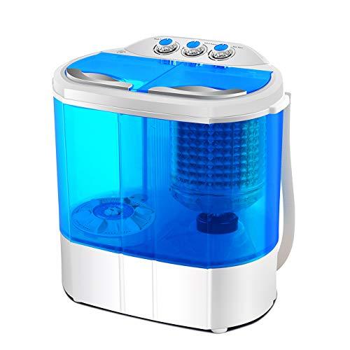 FOBUY Mini Twin Tub Washing Machine (3.6KG Washing + 2KG Drying) Portable...