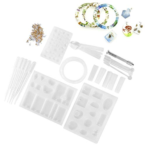 Rosvola Moldes de fundición de joyería, moldes de fundición para Manualidades, moldes de fundición de Silicona para niños, Fabricantes de Joyas, Amantes del Bricolaje