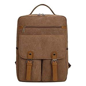 TWIFER Mochila Negocio con Puerto para Hombre Mujer Lona ordenador portatil backpack Bolso de Hombro para viajes de deportes al aire libre Impermeable Mochila Escola