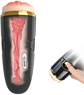 Vibrating Male Masturbator Cup Detachable Pocket Pussy...