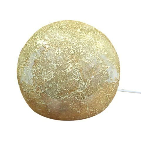 ARTDECO Tischlampe Kugel, Glas, 25 cm