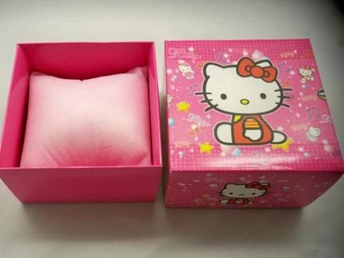 Hello Kitty Pink Gift Box With Cushion For Watch FLAT PACK
