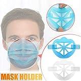 eiuEQIU 3D Soporte de Mascarilla Protección Labial Labios Soporte Interno,Marco para Nariz y Respiración,No pegue pintalabios, amplíe el espacio respiratorio
