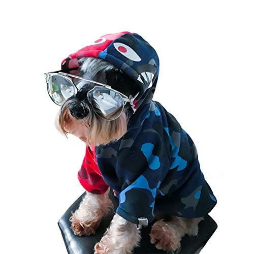 Pet Clothes, Puppy Hoodie Sweater Dog Coat Warm Sweatshirt Shark Camouflage Street Fashion Ape Bpe (Small)