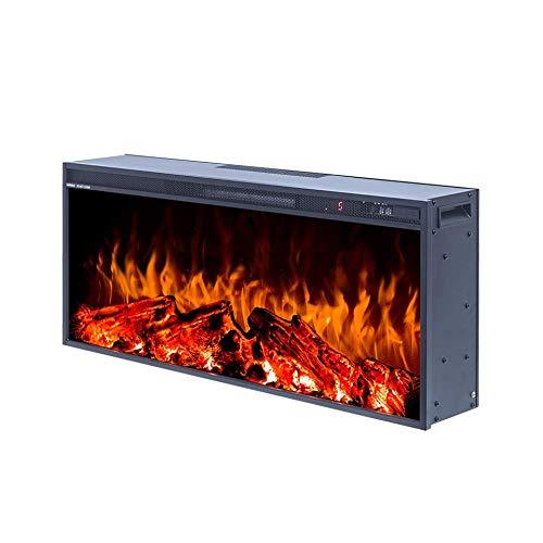 Art Flame, Chimenea eléctrica empotrada Tasmania, 1500 W, Control Remoto