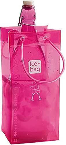 Ice-Bag ® Design Collection, Maße 11 x 11 x 25,5 cm Pink/Rosa - Weinkühler - Sektkühler - Flaschenkühler - 0,5 mm - VE : ab 1 STK.