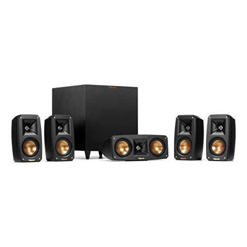 Klipsch Black Reference Theater Pack 5.1 Surround Sound System For TV