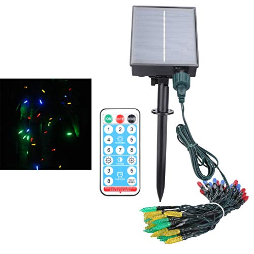 String Light, Solar Lamp, IP65 Waterproof Remote Control for Lawns Gardens Courtyards Balconies(RGB)