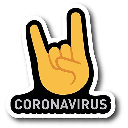 ADESIVO STICKERS CORNAVIRUS IL VIRUS PIU CONTAGIOSO CORONAVIRUS 10X9,5CM