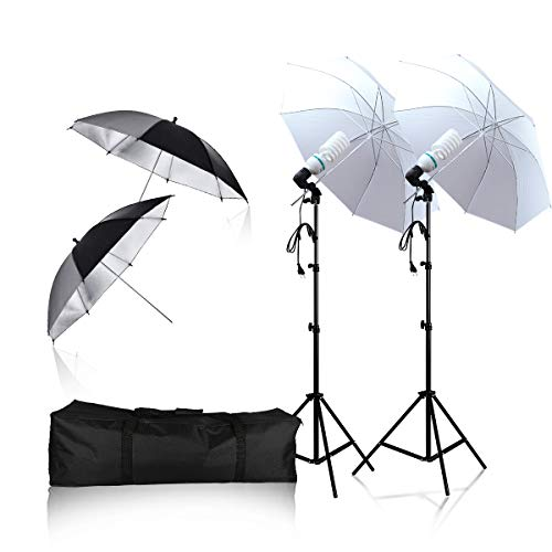 Soft Light Umbrella 135W 6500K Daylight Continuous Lighting Photography Light Kit, Professional Photography Studio Still Life Portrait Photography