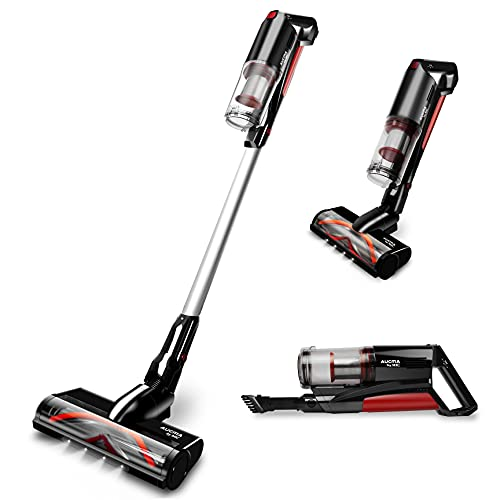 MIC Cordless Vacuum Cleaner, 22000Pa Stick Vacuum, 5 in 1 Handheld Lightweight Vacuum with Removable Battery, 3 Adjustable Suction, Up to 50 Mins Working Time, Perfect for Carpet Floor Pet Hair Car