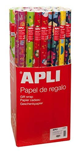 APLI 14002 Rollo Papel de Regalo Infantil, 2 x 0,70 m