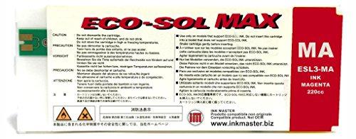 Ink Master - Cartucho remanufacturado Roland Eco-Sol MAX Magenta para Roland BN-20 RS-540 RS-640 SJ-645EX SJ-745EX SJ-1045IS SP-300i SP-300V SP-540i SP-540V VP-540i VP-300i XC-540 XJ-640 XJ-740