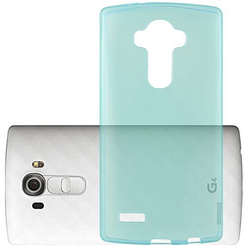 Preisvergleich Produktbild Cadorabo Hülle für LG G4 PRO - Hülle in TRANSPARENT BLAU Handyhülle aus TPU Silikon im Ultra Slim 'AIR' Design - Silikonhülle Schutzhülle Soft Back Cover Case Bumper