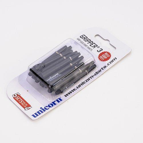 PerfectDarts 5 Set Multipack Unicorn Gripper 3 Medium schwarz Dart SchŠfte Shafts