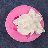 NTBAY Taglia Due Rose Torta Fondente Stampo in Silicone Stampo per Cioccolato Stampo per Dolci Fai-da-Te Decorazione per Dolci