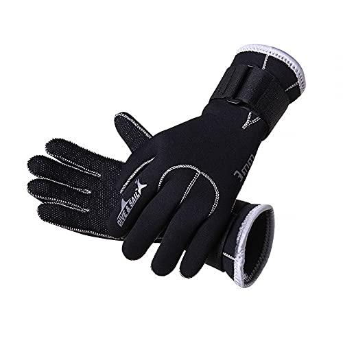 MiOYOOW 1 par de guantes de buceo, guantes de buceo de neopreno térmicos antideslizantes Unesex guantes de agua para pesca submarina, natación, rafting, kayak, remo