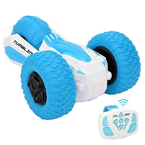 SALUTUYA Stunt Racing Car Textura Flexible Regalo de cumpleaños Duradero para niños para niños/Regalo para niños con Ranuras Antideslizantes(Blue)