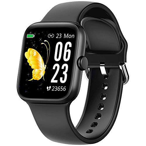 """Smart Watch for Men Women,Fitness Tracker with 1.54"""" Full Touch Color Screen,IP67 Waterproof Pedometer Smartwatch with Pedometer Heart Rate Monitor Sleep Tracker for Android and iOS Phones (Renewed)"""