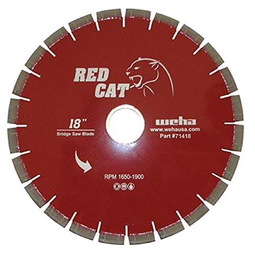 Best Buy! Red Cat 18 Inch Bridge Saw Blade Granite, Quartz, Marble & Quartzite