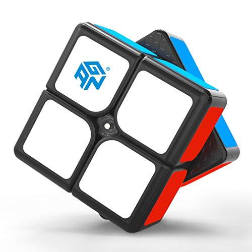 GAN 249 V2 M, 2x2 Cubo Magnético Mágico Rompecabezas Cubo de Velocidad (Negro con Stickers)