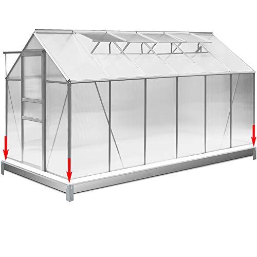 Deuba Fundament verzinkt 380x190cm Stahlfundament Gewächshaus Treibhaus Rahmen inkl. Montagematerial