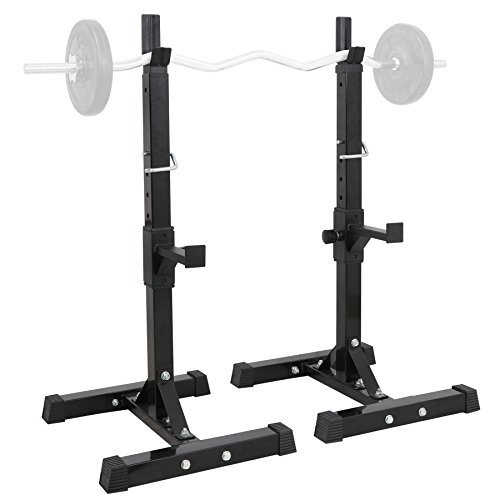 """F2C Pair of Adjustable 41""""-66"""" Sturdy Steel Squat Rack Barbell Free Bench Press Stand Gym/Home Gym Portable Dumbbell Racks Stand Max 550lbs"""