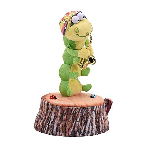 6Wcveuebuc Saxophon, tanzend, singend, Tischlerwurm, weich, gefüllt, Insekten, Plüsch-Spielzeug für Kinder, Party, Geburtstag, Geschenke, lustiges elektrisches Spielzeug