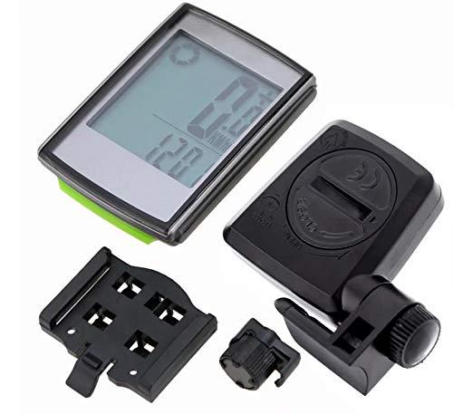 Doyeemei velocímetro para Bicicleta Dispositivo inalámbrico de Velocidad multifunción para Bicicleta velocímetro para computadora para Bicicleta