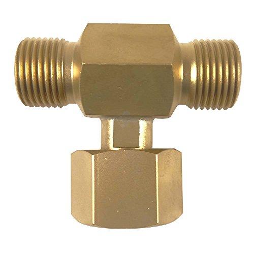 Sauerstoff T-Doppelnippel / T-Stück 200 bar - von Gase Dopp