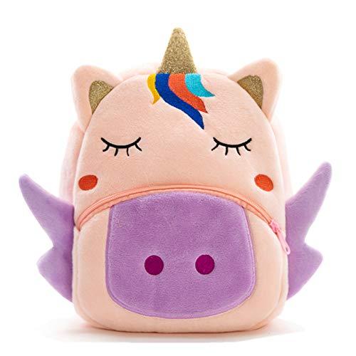 Cute Toddler Backpack Toddler Bag Plush Animal Cartoon Mini Travel Bag for Baby Girl Boy 2-6 Years(BB Unicorn)