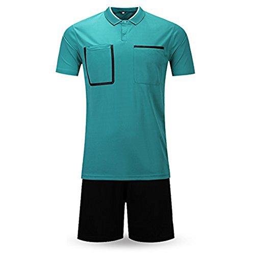 Shinestone Schiedsrichter-T-Shirt für Herren und Damen, kurzärmelig, Dunkelgrün, Größe M