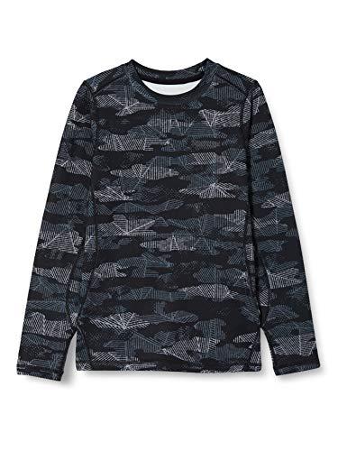 Marmot Kinder Midweight Harrier Crew Sweatshirt, Black Haze Camo, XL