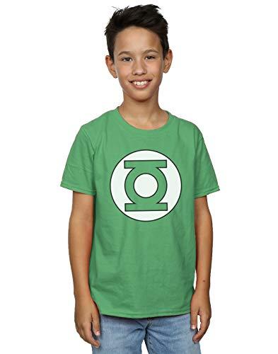 DC Comics niños Green Lantern Logo Camiseta 12-13 years verde irlandés