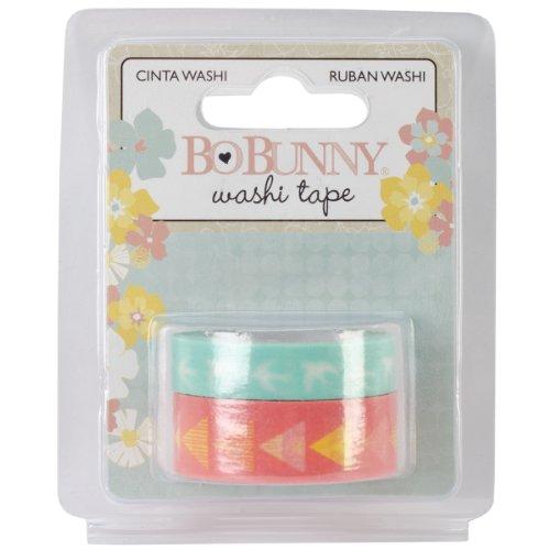 Bo Bunny Baby Bump Washi Tape, Mehrfarbig, 2Stück