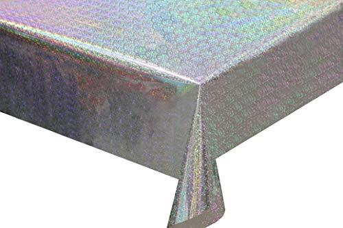 Angmart 2 Pack 2er Pack Iridescence Papier Laser Hologramm Holographischer Regenbogen Wiederverwendbare Tischdecke Party Dekoration Party Hochzeit Weihnachten Brithday Bridal 54