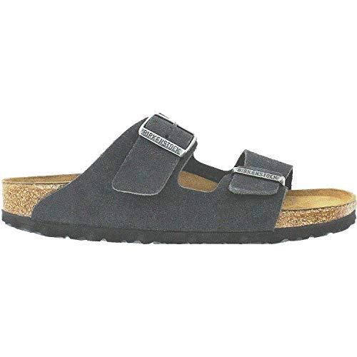 Birkenstock Unisex Arizona Velvet Gray Sandals - 39 M EU / 8-8.5 B(M) US
