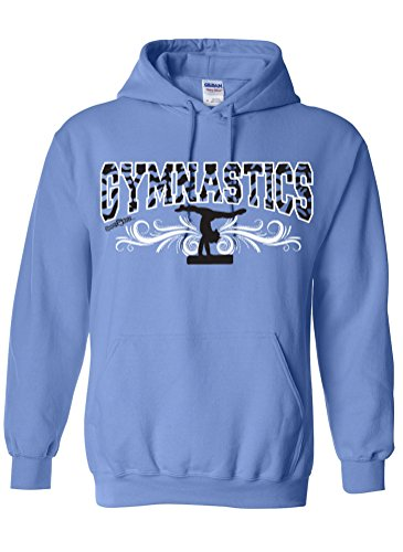 Sports Katz Womens 'Zebra' GYMNASTICS Hoodie Columbia Blue Small