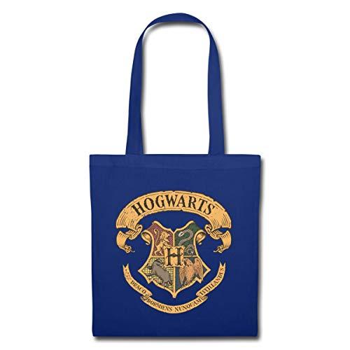 Harry Potter Hogwarts Wappen Stoffbeutel, Royalblau